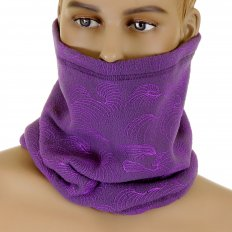 Reversible Head Warmer - Purple neck warmer snood