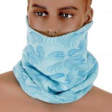 Reversible Head Warmer - Sky Blue Neck Warmer Snood