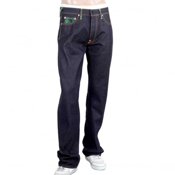 RMC JEANS Samaurai Monkey Vintage Cut Dark Indigo Raw Selvedge Denim Jeans
