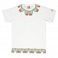 Samurai White Cotton Crew Neck Regular Fit T-Shirt for Men
