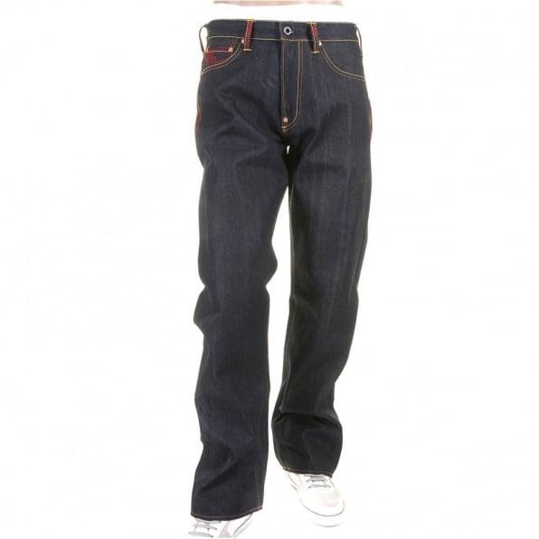 RMC JEANS Scarlet vintage cut design dark indigo raw denim jeans