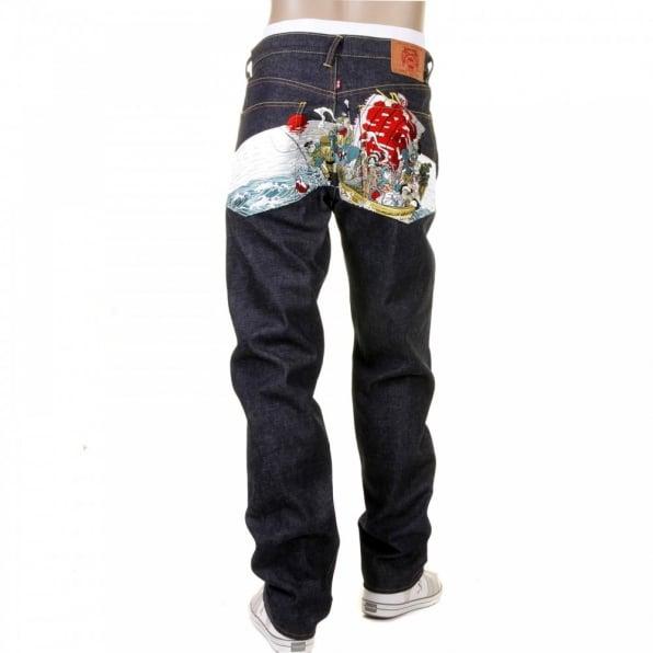 RMC JEANS Selvedge Dark Indigo Raw Denim Jeans for Men