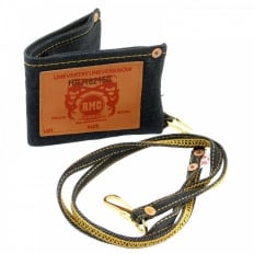 Selvedge Indigo Denim Double Bill Fold Wallet with Key Chain