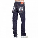 RMC JEANS Selvedge Indigo Raw Japanese Denim with White Embroidered FM Union
