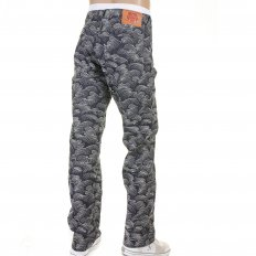 Shop for Mens Denim Jeans with Full Embroidery in White
