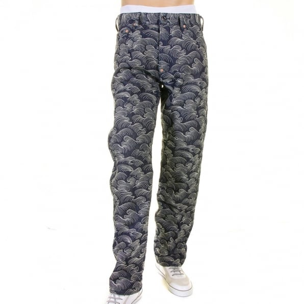 RMC JEANS Shop for Mens Denim Jeans with Full Embroidery in White