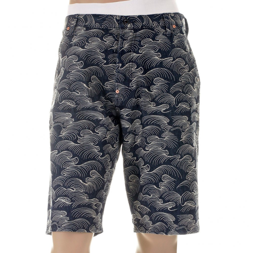 79601bec4 RMC JEANS Shop for Mens Denim Shorts with White Embroidery