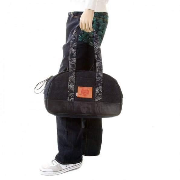 RMC JEANS Shop for Mens/Unisex Denim with Leather Hand Held Bag