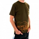 RMC JEANS Short sleeve Crew Neck cotton t-shirt in army-green