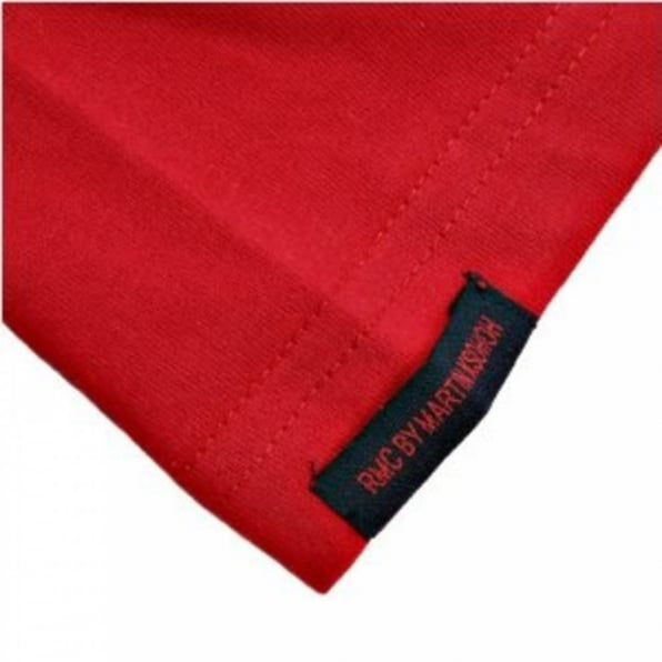 RMC JEANS Short Sleeve Red Crew Neck T-Shirt with Brand School Crest