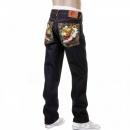 RMC JEANS Slim Cut Dark Indigo Raw Denim Jeans for Men