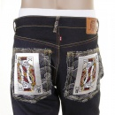 RMC JEANS Slim Cut Dark Indigo Raw Denim Jeans with Super Exclusive Design