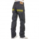 RMC JEANS Slim Cut Red and Blue Selvedge Raw Denim Jean