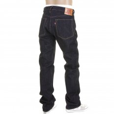 Slim Fit Mens Kurabo Dark Indigo Raw Denim Jeans