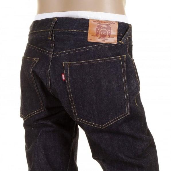 RMC JEANS Slimmer Cut Kurabo Dark Indigo Selvedge Raw Denim Jeans