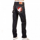 RMC JEANS Slimmer Cut Mens Selvedge Raw Denim Dark Indigo Raw Denim