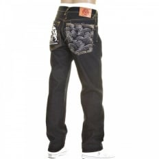 Slimmer Cut Super Exclusive Design Dark Indigo Raw Denim Jeans