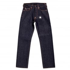 Super Exclusive Dark Indigo Raw Denim Jeans with with Silver Embroidered 4A