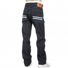 Super Exclusive Dark Indigo Raw Mens Denim Jeans Slim Fit