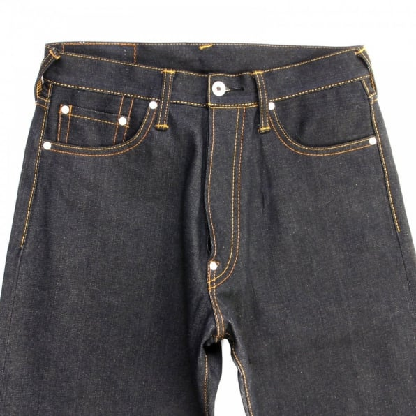 RMC JEANS Super Exclusive Dark Indigo Selvedge Raw Dry Denim Jeans