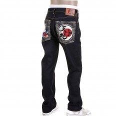 Super Exclusive Design Dark Indigo 1001 Raw Denim Jeans