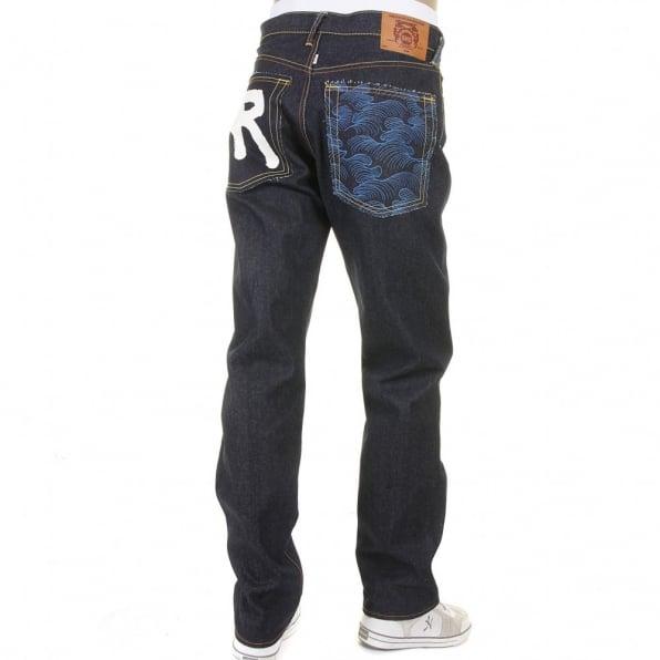 RMC JEANS Super Exclusive Design Dark Indigo Raw Denim Jeans for Men
