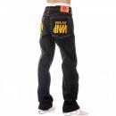RMC JEANS Super Exclusive Design Dark Indigo Raw Denim Jeans with Gold Embroidery