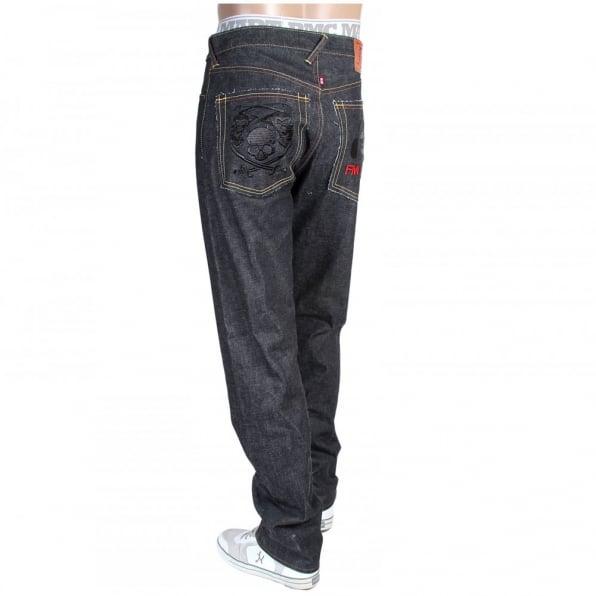 RMC JEANS Super Exclusive Design Selvedge Raw Indigo Monsterider FMUnion Denim Jeans