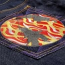 RMC JEANS Super Exclusive Duelist Kimono Design Dark Indigo Raw Selvedge Denim Jeans