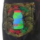 RMC JEANS Super Exclusive Embroidered Design Vintage Cut Dark Indigo Raw Denim Jeans