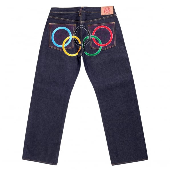 RMC JEANS Super Exclusive Limited Edition Embroidered Olympics Denim Jeans