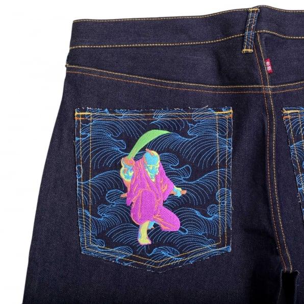 RMC JEANS Super Exclusive Red/Green Selvedge Vintage Cut Dark Warrior raw denim jeans