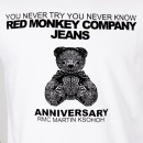 RMC JEANS Teddy Bear White Crew Neck Short Sleeve Regular Fit T-Shirt