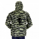 RMC JEANS Tiger Camo Green Zip up Regular Fit Hooded Windbreaker Jacket