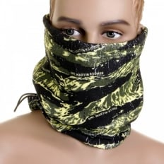 Tiger Camo Neck Warmer Snood in Green