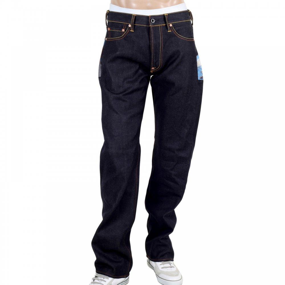 abbf33d83c4 RMC JEANS Toyo Story Fisherman Dark Indigo Vintage Cut Raw Selvedge Denim  Jeans for Men ...