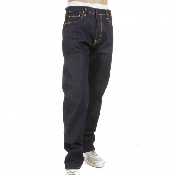 RMC JEANS Tsunami Wave and Painted Logo Raw Selvedge Denim Jeans