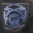 RMC JEANS Tsunami Wave with blue Painted Logo Raw Denim Jeans