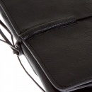 RMC JEANS Unisex Black Leather Bill Fold Leather Wallet
