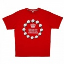 RMC JEANS Untunk Red Crew Neck Regular Fit Short Sleeve T-Shirt
