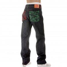 Vintage Cut Dark Indigo Raw Denim Jeans for Men