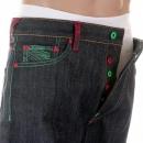 RMC JEANS Vintage Cut Dark Indigo Raw Denim Jeans for Men