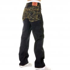 Vintage Cut Dark Indigo Selvedge Raw Denim Jeans for Men