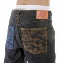 RMC JEANS Vintage Cut House Selvedge Dark Indigo Raw Denim Jeans for Men
