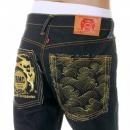 RMC JEANS Vintage Cut Selvedge Dark Indigo Raw Denim Jean