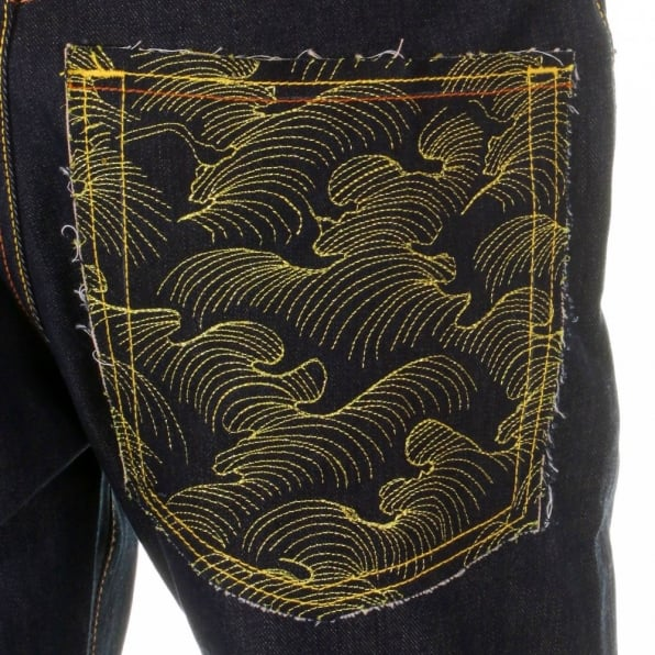 RMC JEANS Vintage Cut Selvedge Dark Indigo Raw Denim Jean