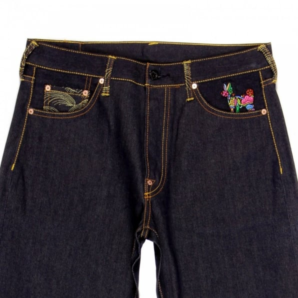 RMC JEANS Vintage Cut War Is Not the Answer Japanese Selvedge Raw Denim Jeans