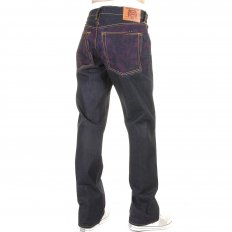 Vintage Denim with Full back Purple Tsunami Wave