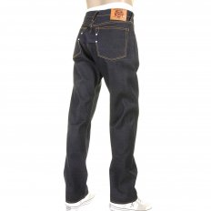 Vintage Fit Dark Indigo Raw Dry Denim Jeans for Men