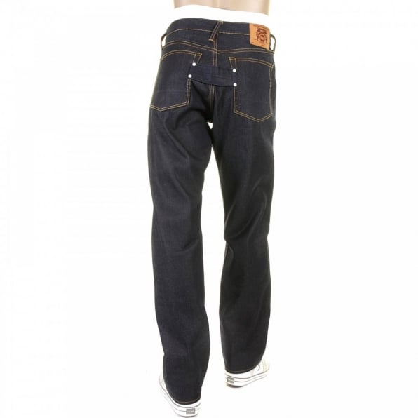 RMC JEANS Vintage Fit Dark Indigo Raw Dry Denim Jeans for Men